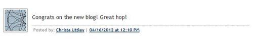 Note to Self Blog Hop Winner