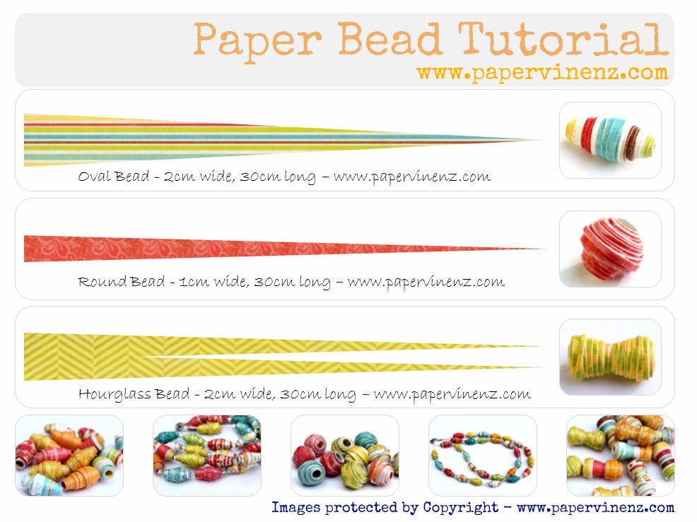 image regarding Printable Paper Bead Templates referred to as No cost paper bead templates