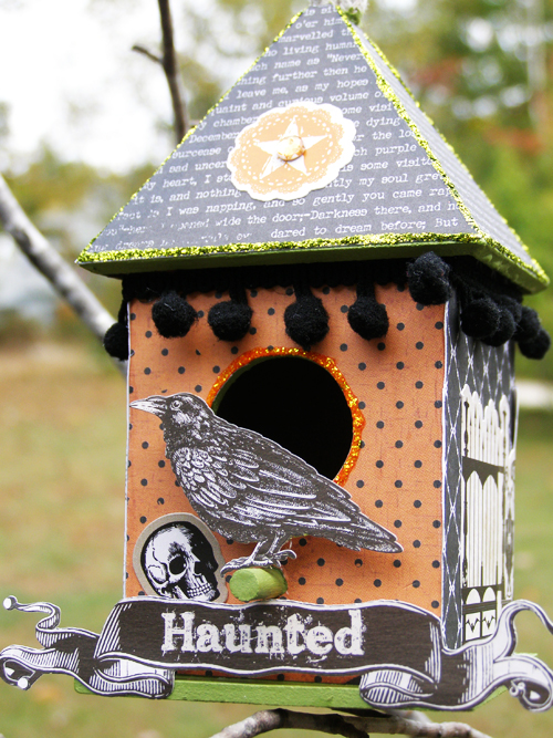 Haunted birdhouse sized
