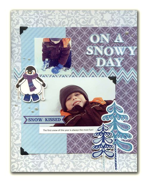 On a Snowy Day Layout by Kandis Smith