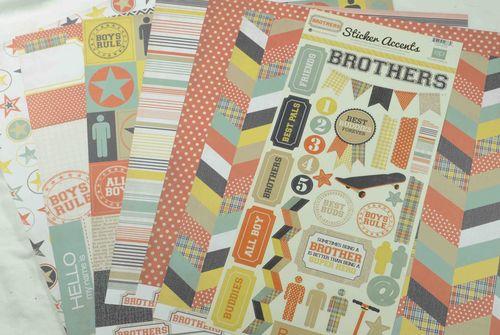 Laurel's Brothers card tut 1