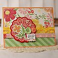 Flower Doily Card by Kandis Smith