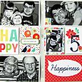 5th Birthday Double Page Spread by Linda Auclair