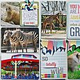 Zoo Double Page Layout by Susan Stringfellow