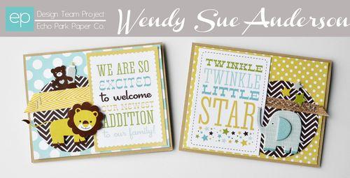 Bundle of joy boy card set of 2 by wendy sue ep