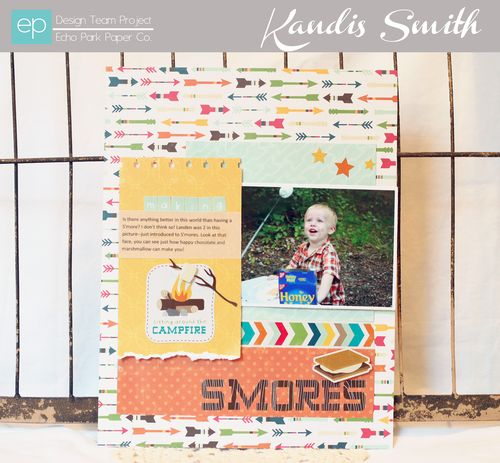 Happy Camper layout Kandis Smith setting