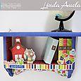 Bookworm Bookshelf by Linda Auclair