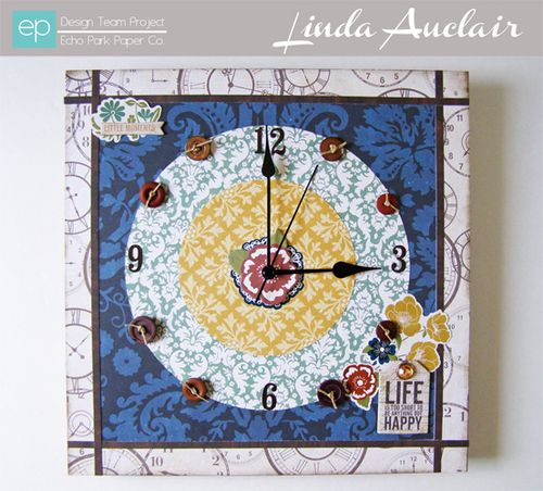 Linda Auclair Reflections clock w banner sized