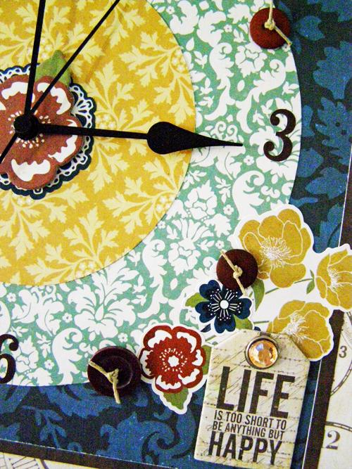 Linda Auclair Reflections clock detail 2