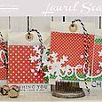 Die Cut Holiday Bags by Laurel Seabrook