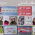 Winter Fun Double Page Spread by Linda Auclair