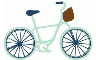 Bike Die Cut Shape by Echo Park Paper