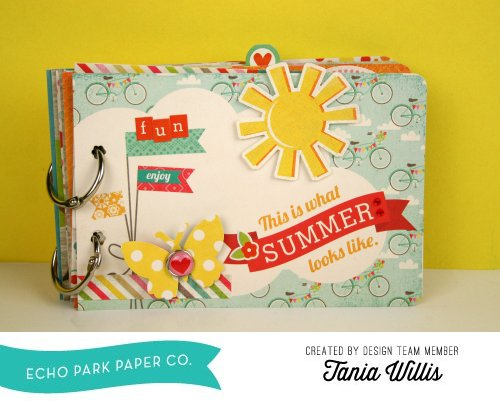 Create A Summer Bliss Mini Album Echo Park Paper