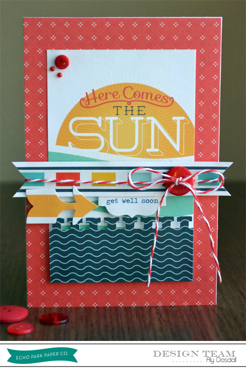 Aly_here comes the sun card