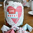 Valentine Love Note Jar by Aly Dosdall