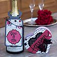 Valentine Wine Bottle Tag and Matching Card by Corri Garza