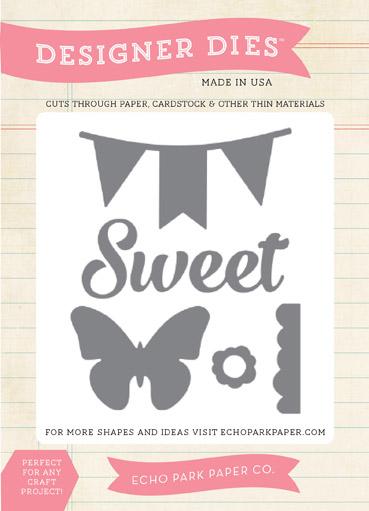 EPMDie8_Sweet, Butterfly, Banner Die