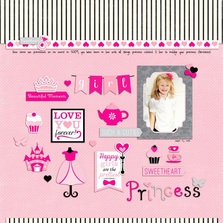 Princess layout by Rachael Sheedy copy