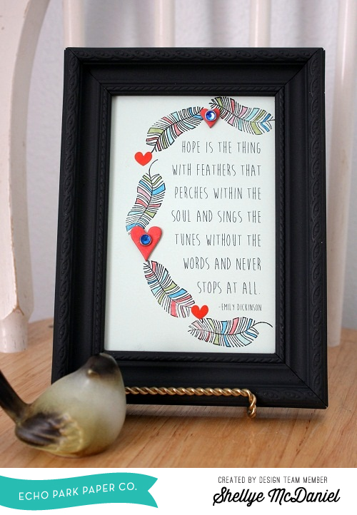 Shellye McDaniel-Anything Goes Feather Frame1