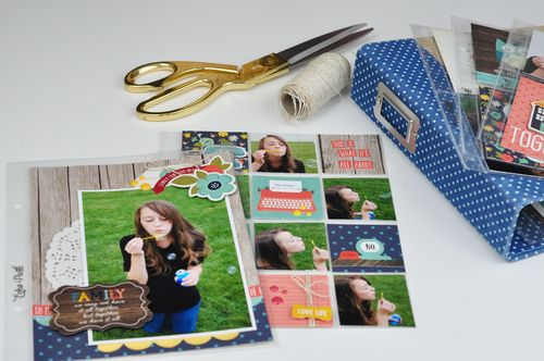 My Storybook Pocket Pages and Blue Polka Dot Album Photo 1