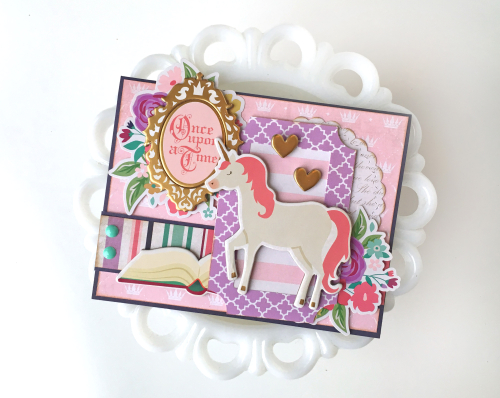 Jana Eubank Once Upon a Princess Unicorn Card 1 Original