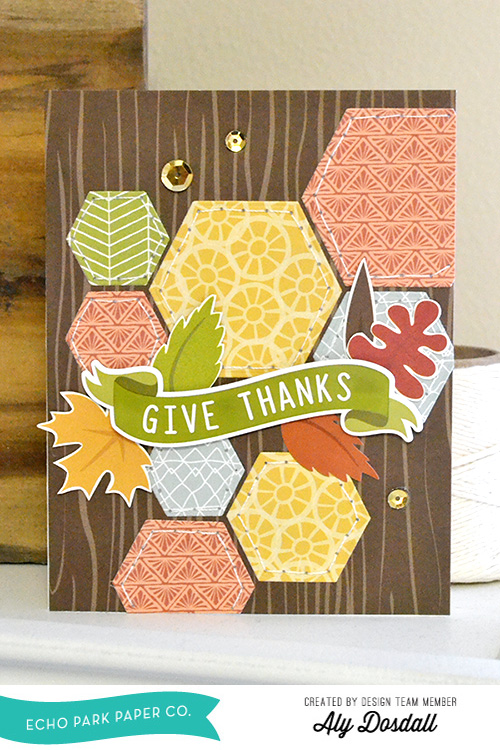 Give Thanks Card by Aly Dosdall1