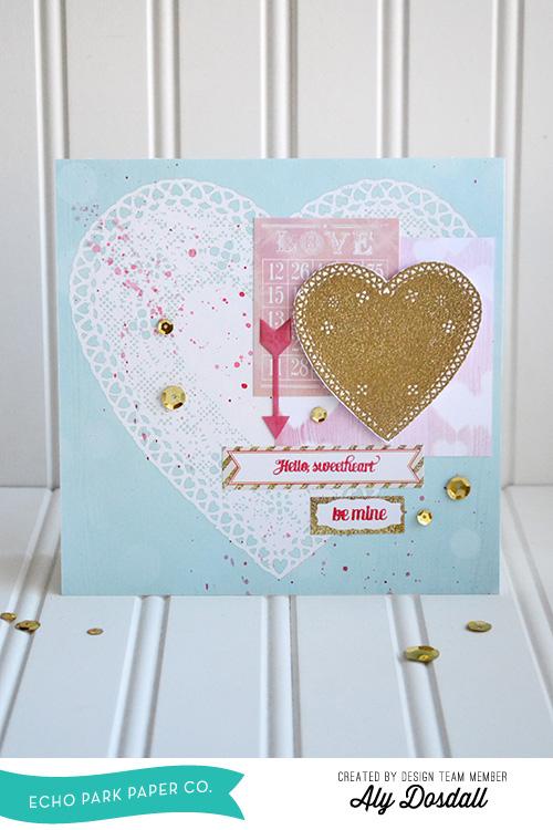 Heart Doily Valentine by Aly Dosdall 1