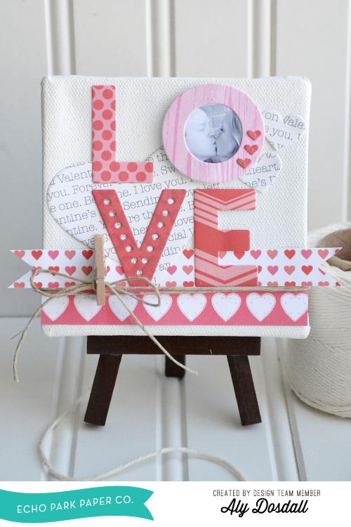 Love Mini Canvas by Aly Dosdall 1