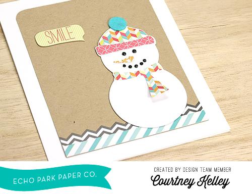 Courtney Kelley Smile Snowman Card Photo 2