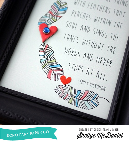 Shellye McDaniel-Anything Goes Feather Frame2