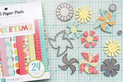 Sweet summertime dies and 6x6 paper pad