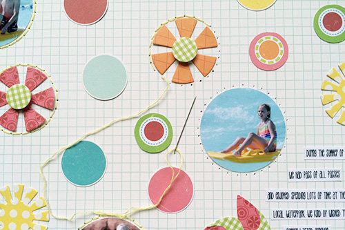 Sweet summertime dies and hand stitching
