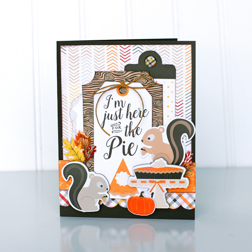 Jana Eubank Carta Bella Hello Fall Squirrel Pie Card 1