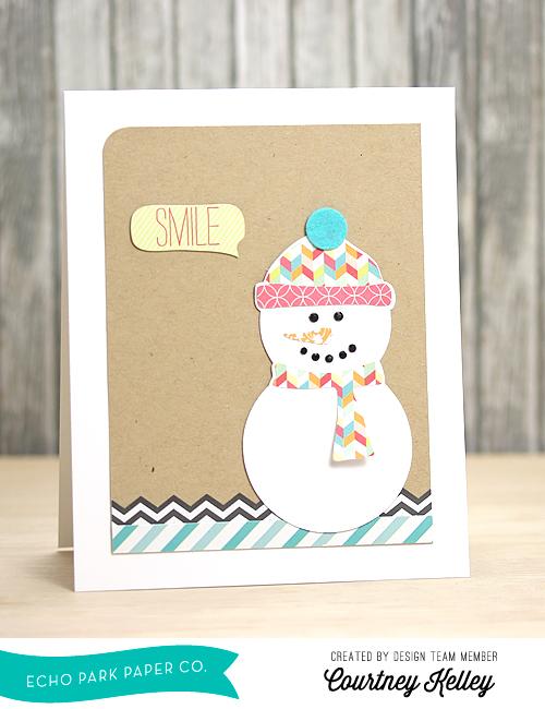 Courtney Kelley Smile Snowman Card Photo 1