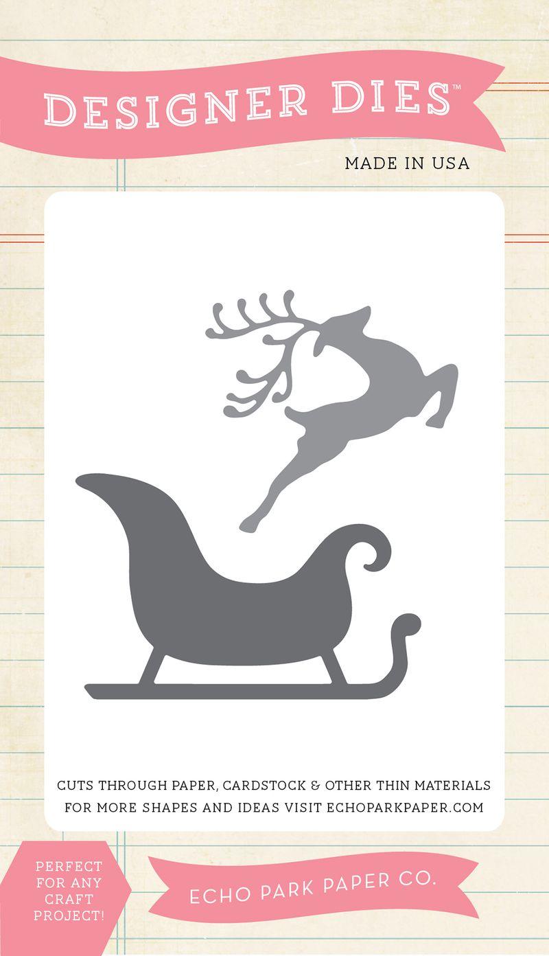 EPPDIE281_Reindeer_Sleigh_Small_Die