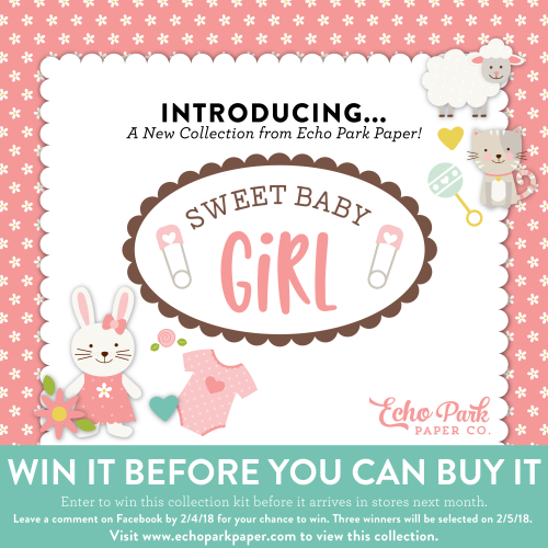 Win It Before You Can Buy It Sweet Baby Girl Echo Park Paper