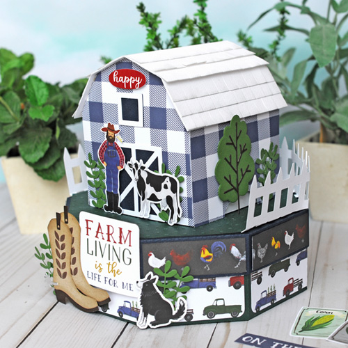 Jana Eubank Echo Park Paper Down On the Farm Barn Box 4 500