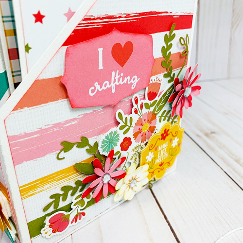 "Crafty File Holder by Dorymar Perez featuring the ""I Heart Crafting"" Collection by #EchoParkPaper"