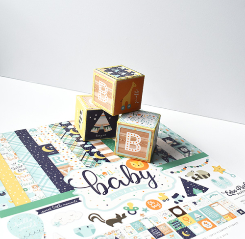 "Baby Boy Boho Decor by Michelle Zerull for #EchoParkPaper featuring the ""Hello Baby Boy"" Collection"