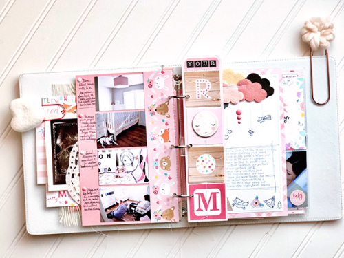 "Baby Girl mini album by Megan Hoeppner featuring the ""Hello Baby Girl"" collection from #EchoParkPaper"