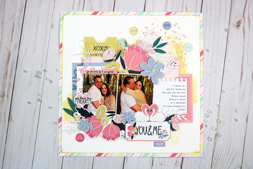 "Lovely layout by Dorymar Perez featuring the ""You & Me"" Collection by #EchoParkPaper"