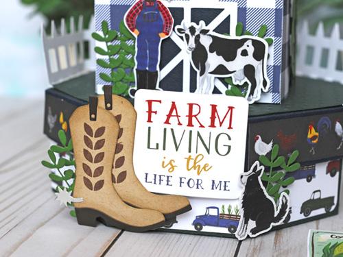 Jana Eubank Echo Park Paper Down On the Farm Barn Box 5 500