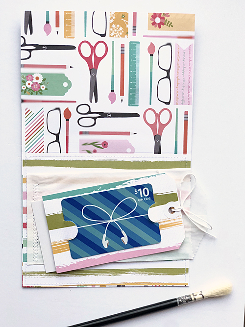 """I Heart Crafting"" Card and Gift Card Combo by Megan Hoeppner for #EchoParkPaper"