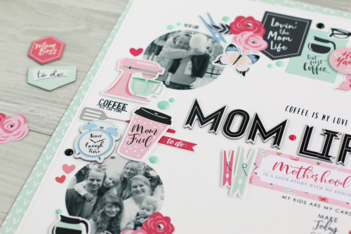 """Mom Life"" Layout by Anya Lunchenko featuring the ""I am Mom"" Collection by #EchoParkPaper"