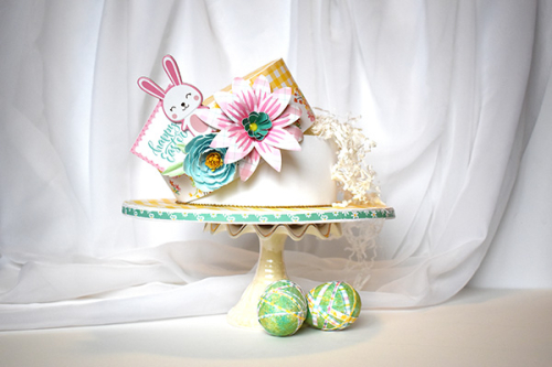 "Easter Wishes Easter Bonnet Hat Box by Michelle Zerull featuring the ""Easter Wishes"" collection by #EchoParkPaper"