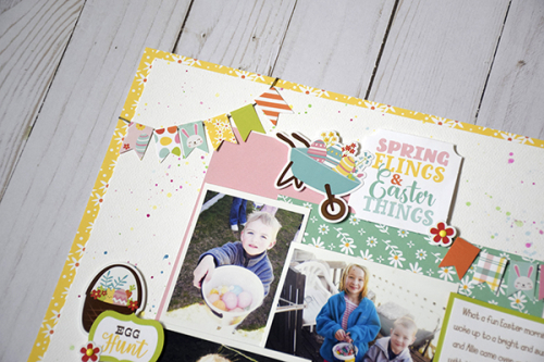 """Happy Easter layout by Tya Smith for #EchoParkPaper featuring the """"Easter Wishes"""" collection"""