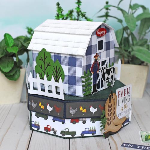 Jana Eubank Echo Park Paper Down On the Farm Barn Box 6 500