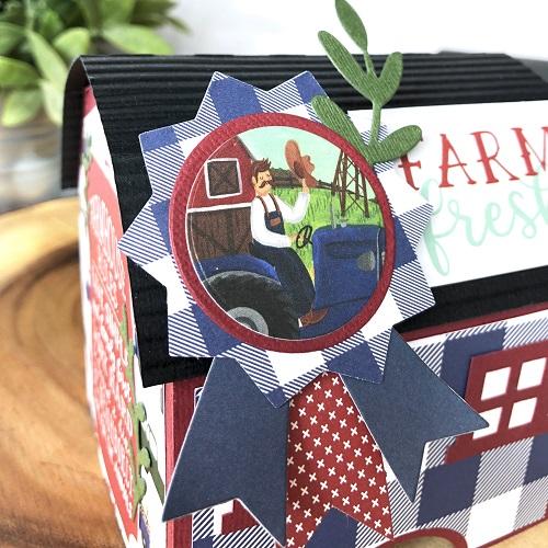 Michelle Zerull Down on the Farm Barn Gift Box Cloeup