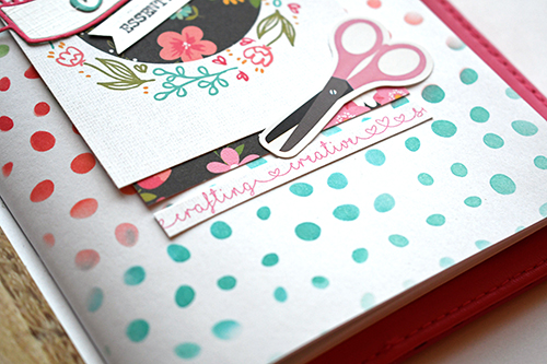 """I Heart Crafting"" Travelers Notebook by Suzanna Lee for #EchoParkPaper"