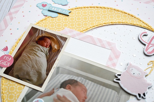 "Baby Girl layout by Suzanna Lee featuring the ""Hello Baby Girl"" collection from #EchoParkPaper"